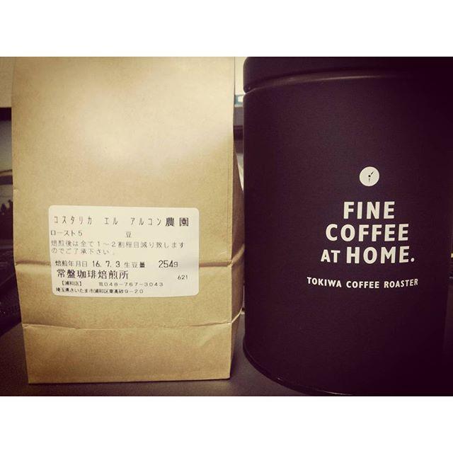 最近はまってるんだよねコスタリカ#コスタリカ #コーヒー #常盤珈琲焙煎所浦和店 from Instagram