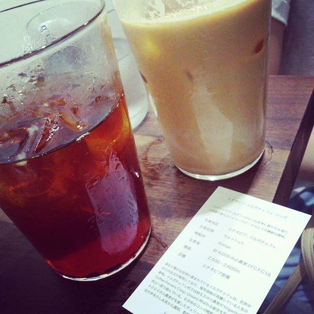 初めて吉祥寺のサードウェーブカフェにきたー。エチオピアがあって満足(^-^)#lightupcoffee #吉祥寺 #エチオピア #ethiopia #coffee #サードウェーブ from Instagram